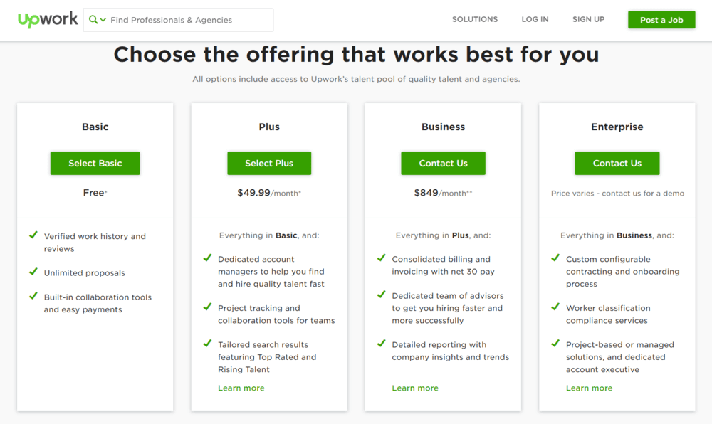 upwork-subscription-model